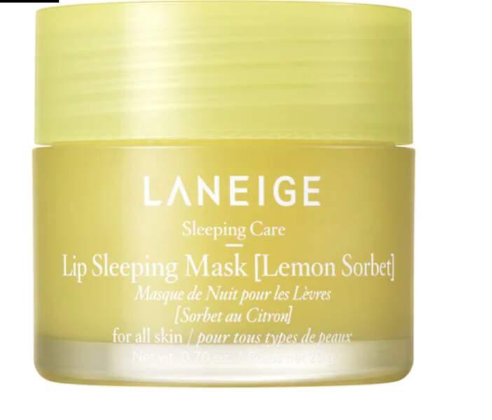 Masque De Nuit pour Les Lèvres Sorbet eu citron, La Neige, 22€, sephora.fr