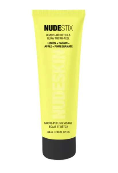 Lemon-Aid Glow Micro-Peel Exfoliant Visage, Masque Peeling Visage Eclat et Détox, Nudestix, 60 ml, 28€, sephora.fr