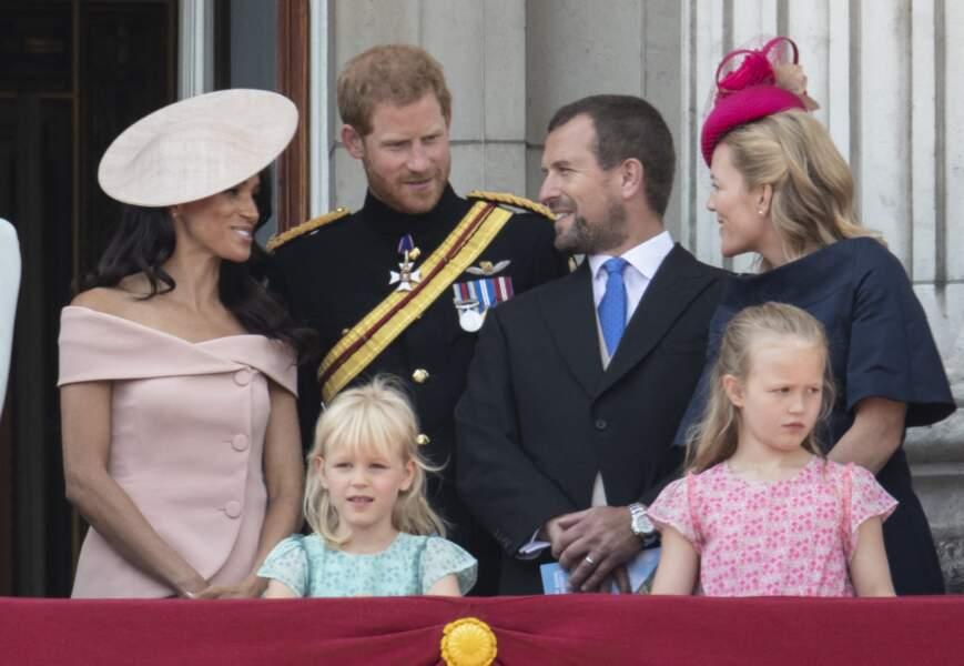 Meghan Markle, Harry et son cousin, Peter Philipps, accompagné de sa famille