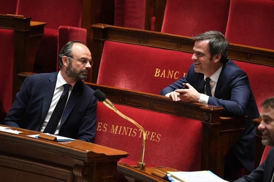 Edouard Philippe et Olivier Véran le 28 avril 2020 à l'Assemblée Nationale