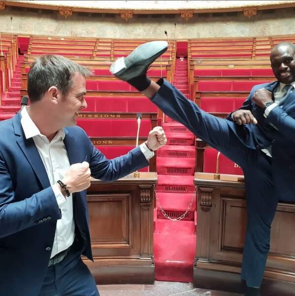 Olivier Véran et Pascal Gentil le 8 juillet 2019 à l'Assemblée Nationale