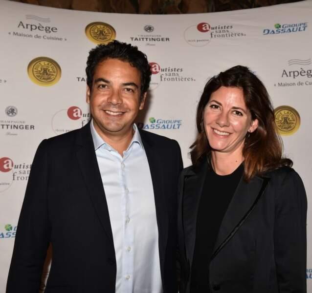 Patrick Cohen et Alexandra Cooren à l'hôtel Marcel Dassault à Paris, le 1er juin 2017