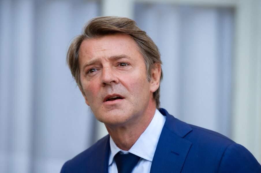 François Baroin assiste à une rencontre de Jean Castex avec les associations d'élus, à Paris, le 2 septembre 2020.