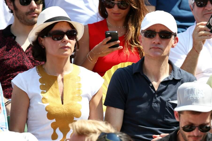 Gilles Bouleau et Elizabeth Tran-Bouleau à Roland Garros à Paris le 8 juin 2014