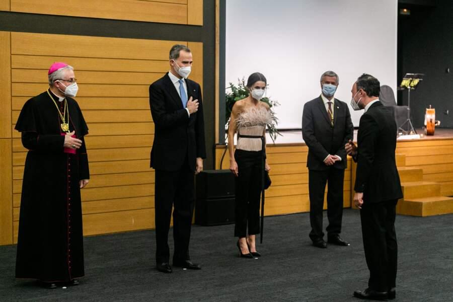 Letizia d'Espagne et le roi Felipe VI en Andorre, le 25 mars 2021