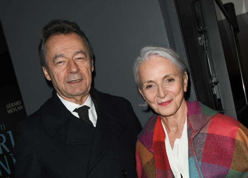 Michel Denisot et sa femme Martine Patier au cinéma UGC Ciné Cité Les Halles à Paris, le 25 novembre 2019