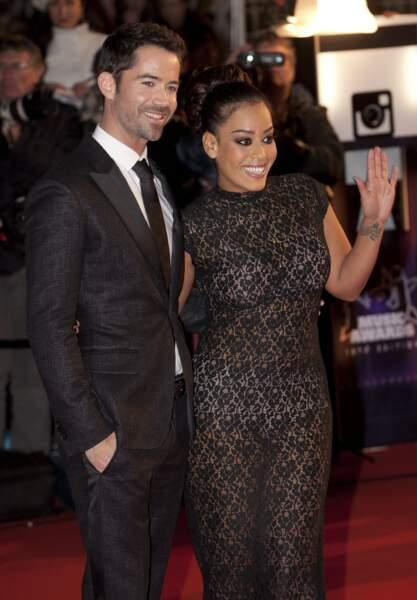 Emmanuel Moire et Amel Bent à la 15eme edition des NRJ Music Awards a Cannes. Le 14 décembre 2013