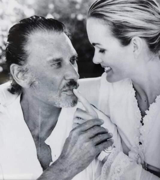 Laeticia Hallyday et Johnny. Photo postée en octobre 2019