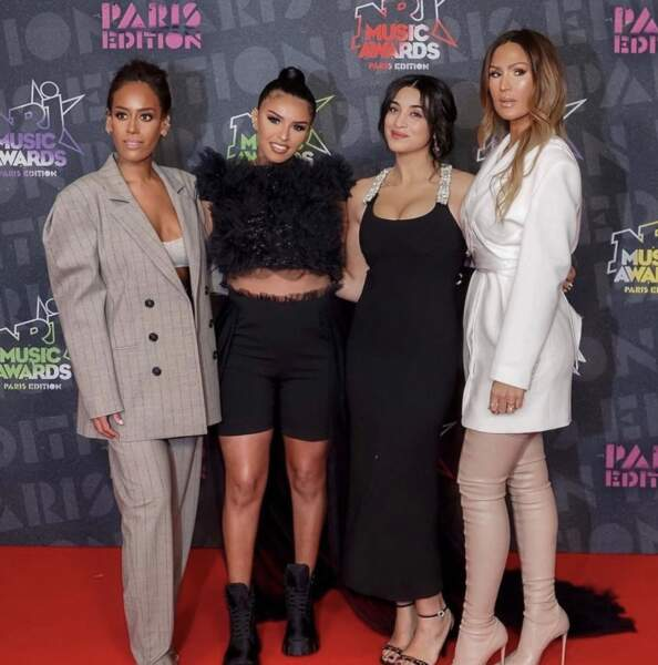 Camélia Jordana, Amel Bent, Imes Es et Vitaa lors des NRJ Music Awards 2020, le 6 décembre 2020.