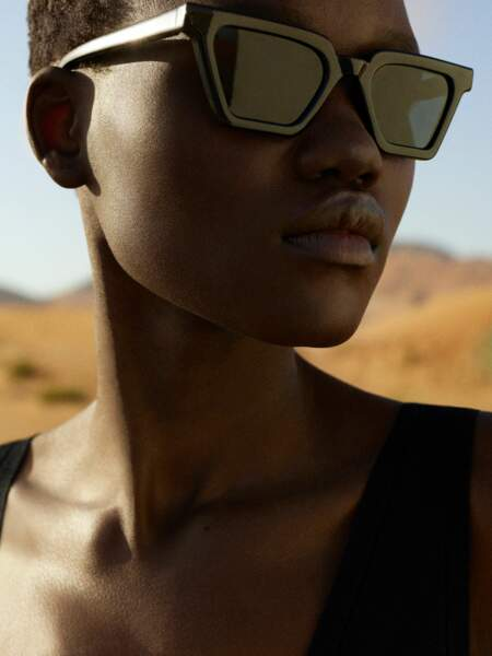 Lunettes solaires cat eye, 99€, Cos x Yuma Labs