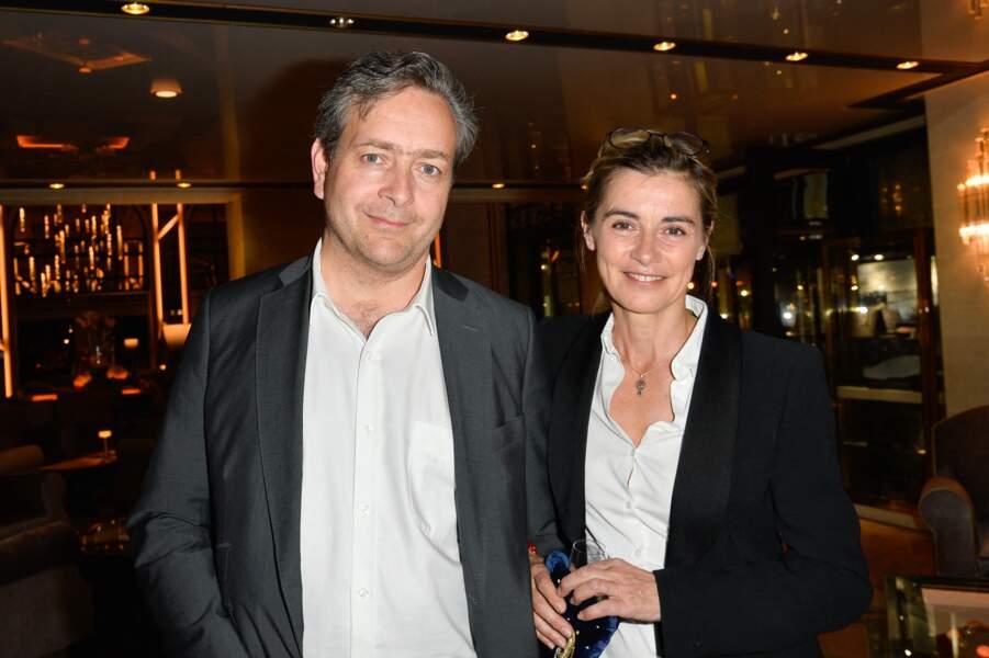 Éric de Chassey et sa femme Anne Consigny, à l'inauguration d'un hôtel du groupe Barrière, à la Baule, le 29 avril 2017.