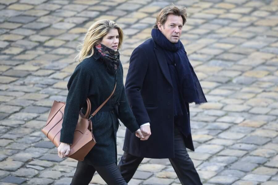 Alice Taglioni et Laurent Delahousse aux Invalides, à Paris, le 8 décembre 2017
