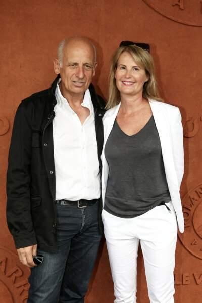 Jean-Michel Aphatie et Stéphanie Aphatie à Roland Garros, à Paris le 2 juin 2018
