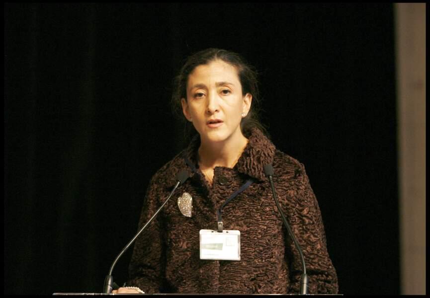 Ingrid Betancourt, lors du 9e Sommet mondial des Prix Nobel de la Paix, à Paris, le 11 décembre 2008.