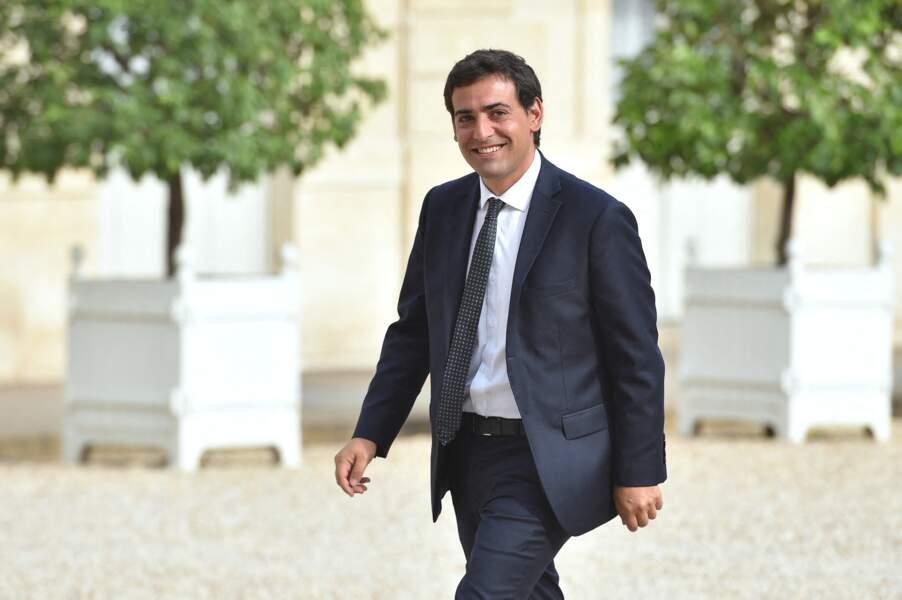 Stéphane Séjourné, photographié dans la cour de l'Élysée, le 27 août 2019.