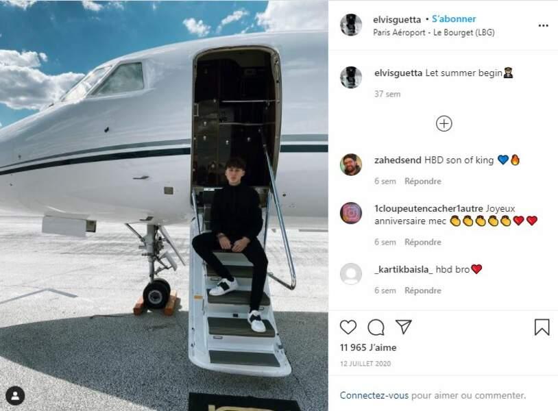Elvis Guetta au Bourget, le 12 juillet 2020.