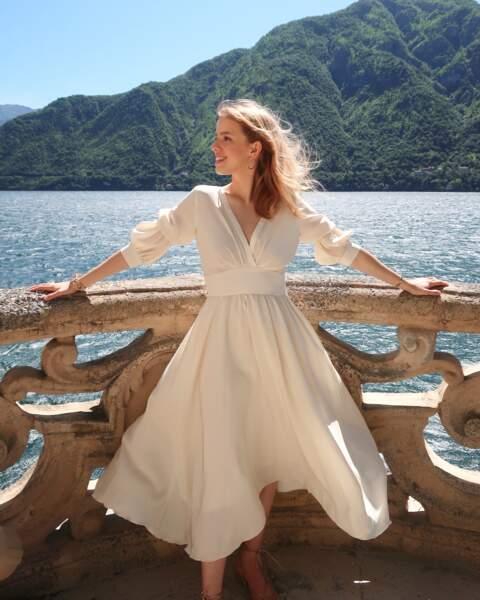 Robe Juliette en satin 100% pure soie, 530€, Instance