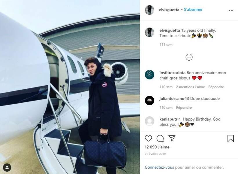 Elvis Guetta pour ses 15 ans, le 9 février 2019.
