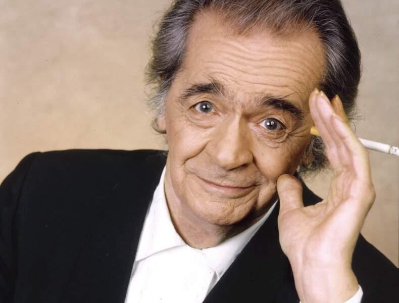 Portrait de Serge Reggiani, datant du 20 janvier 1992.