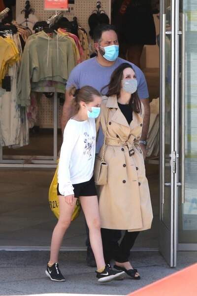 Angelina Jolie et sa fille Vivienne (12 ans) ensemble à Hollywood, le 29 mars 2021