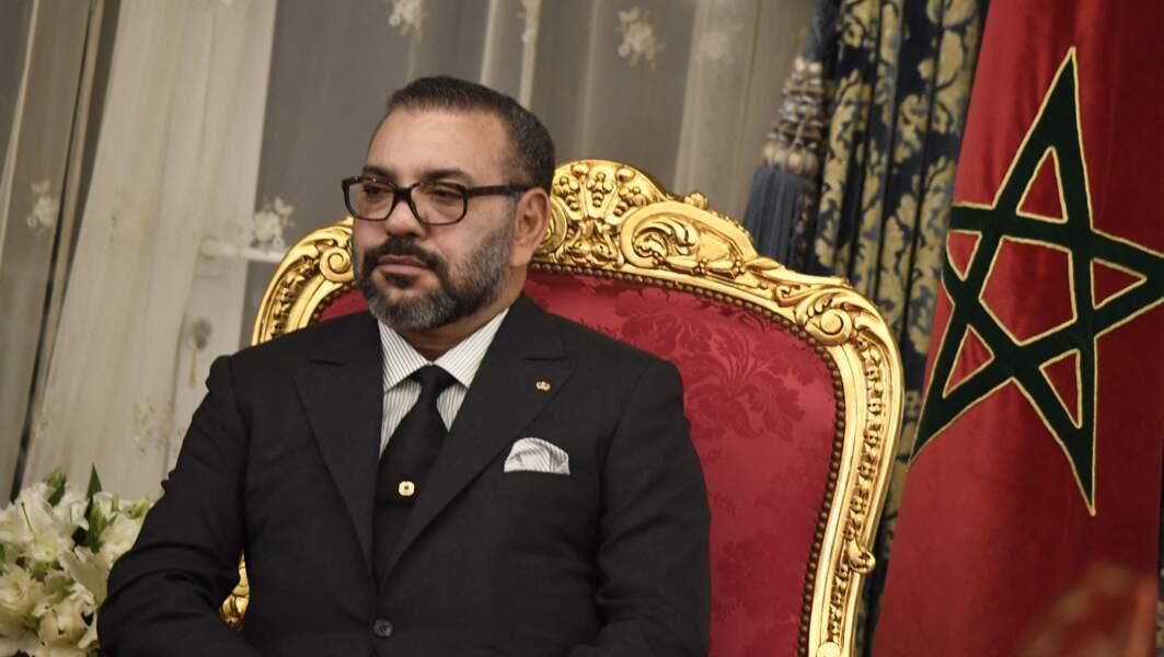 Le roi du Maroc Mohammed VI, en conférence de presse au Palais Royal à Rabat, au Maroc, le 13 février 2019.