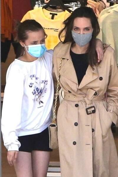 Angelina Jolie et sa fille Vivienne à Hollywood le 29 mars 2021