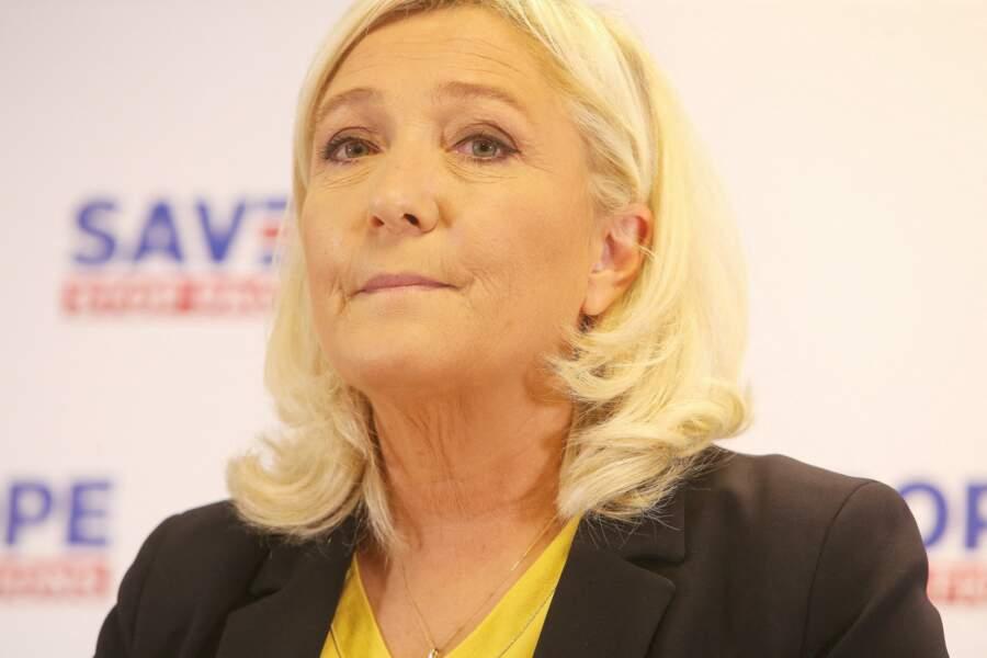 Marine Le Pen au siège du Rassemblement National, à Nanterre, le 9 octobre 2020.