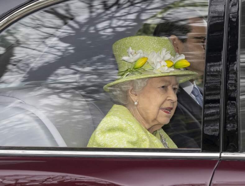 Elizabeth II heureuse et fière d'assister au centenaire de la Royal Australian Air Force au CWGC Air Forces Memorial à Runnymede, dans le Surrey.