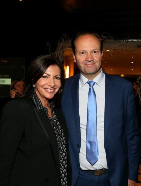 Anne Hidalgo et son mari Jean-Marc Germain au dîner annuel du Conseil de Coordination des organisations Arméniennes de France, le 5 février 2019