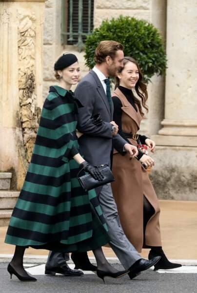 Alexandra de Hanovre, Beatrice Borromeo et Pierre Casiraghi le 19 novembre 2019 à Monaco