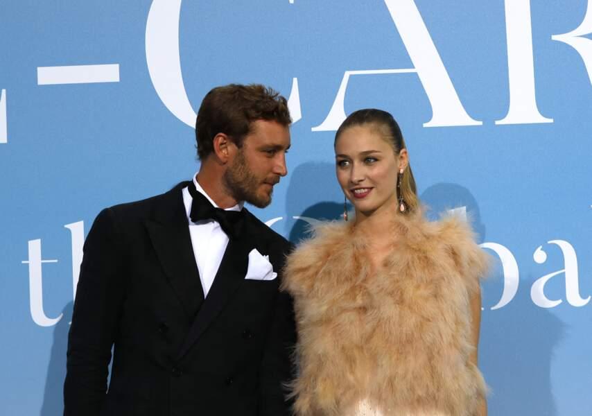 Pierre Casiraghi et son épouse Beatrice Borromeo le 26 septembre 2018 à Monaco