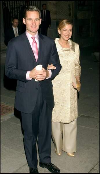 Cristina d'Espagne et Iñaki Urdangarin en 2004