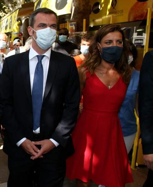 Olivier Veran et Coralie Dubost à la Grande-Motte, le 11 Août 2020.