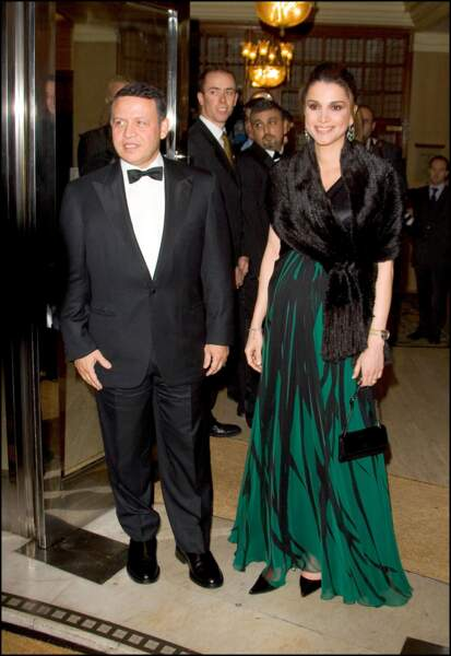 Le roi Abdallah II de Jordanie et la reine Rania au Sheraton Park Lane à Londres en 2004