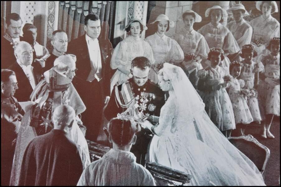 Mariage du prince Rainier III et Grace Kelly à Monaco en 1956