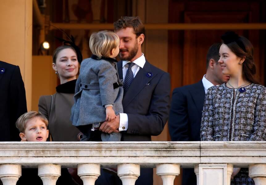 Beatrice Borromeo, Pierre Casiraghi et leur fils Stefano aux côtés d'Alexandra de Hanovre le 19 novembre 2018 à Monaco