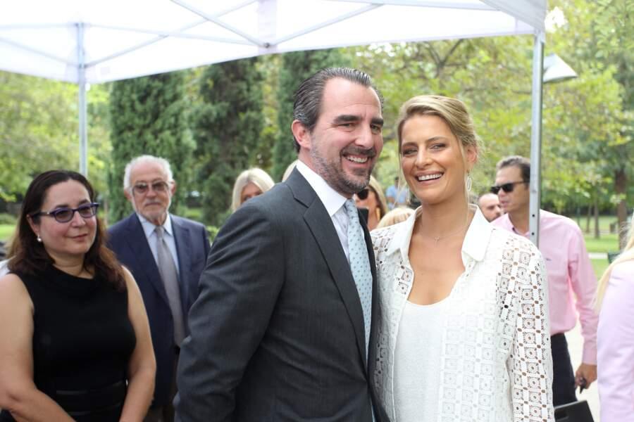 Le prince Nicolas de Grèce (Nikolaos) et son épouse, la princesse Tatiana de Grèce en 2019