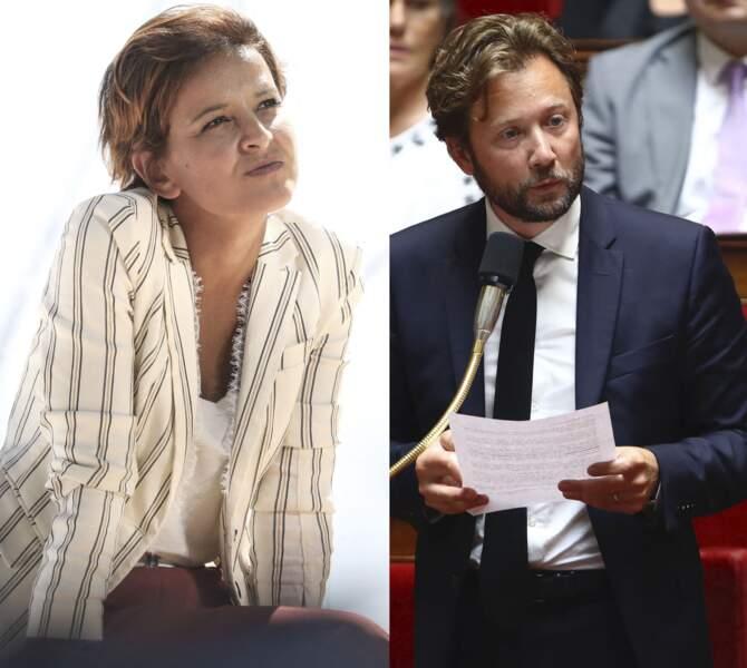 Najat Vallaud Belkacem, à l'Hippodrome de Longchamps, le 27 août 2020 et Boris Vallaud à l'Assemblée Nationale, le 26 juin 2019.