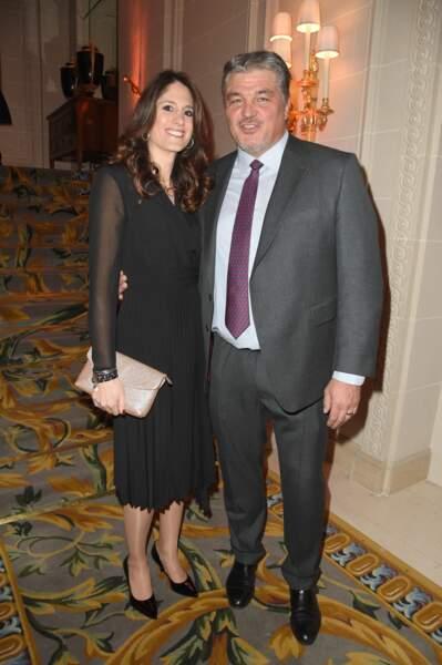 """David Douillet et sa femme Vanessa Carrara lord du 3ème Gala caritatif des """"Stéthos d'Or"""", le 11 mars 2019, à Paris"""