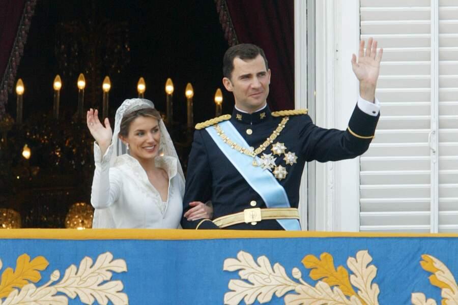 Mariage du prince Felipe d'Espagne et Letizia Ortiz à Madrid, le 22 mai 2004