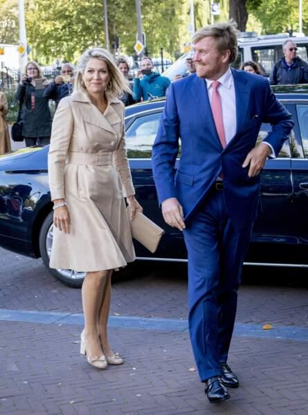 Le roi Willem-Alexander et la reine Maxima des Pays Bas - Séminaire sur l'Inde et les Pays-Bas au Rijks Museum d'Amsterdam, le 30 septembre 2019