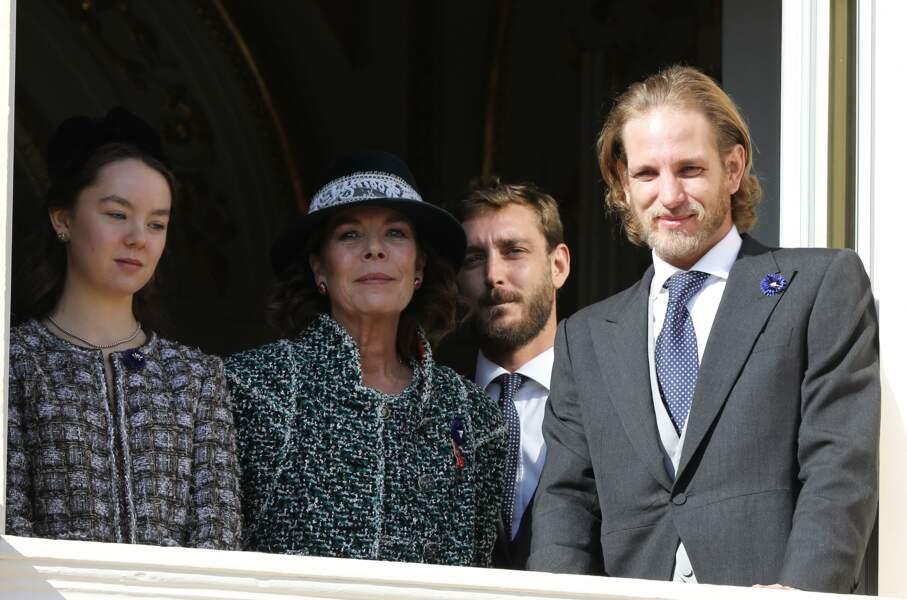 La princesse Caroline de Monaco et ses enfants, Alexandra, Pierre et Andrea  le 19 novembre 2018