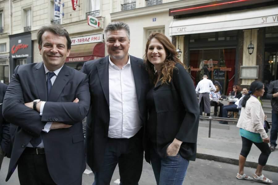 Davild Douillet et Vanessa Carrara, lors du Conseil national du parti Les Républicains à la Maison de la Mutualité, à Paris. Le 2 juillet 2016