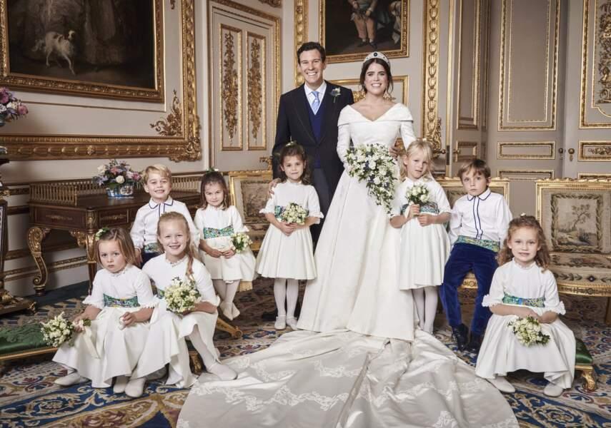 Jack Brooksbank et sa femme la princesse Eugénie d'York en octobre 2018.