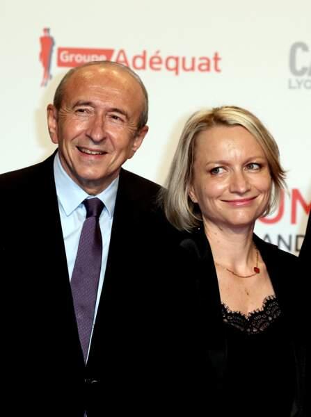 Gérard et sa femme Caroline Collomb à la cérémonie d'ouverture du Festival Lumière  2017 de Lyon, le 14 Octobre 2017