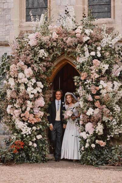 La princesse Beatrice d'York et son mari Edoardo Mapelli Mozzi en juillet 2020.
