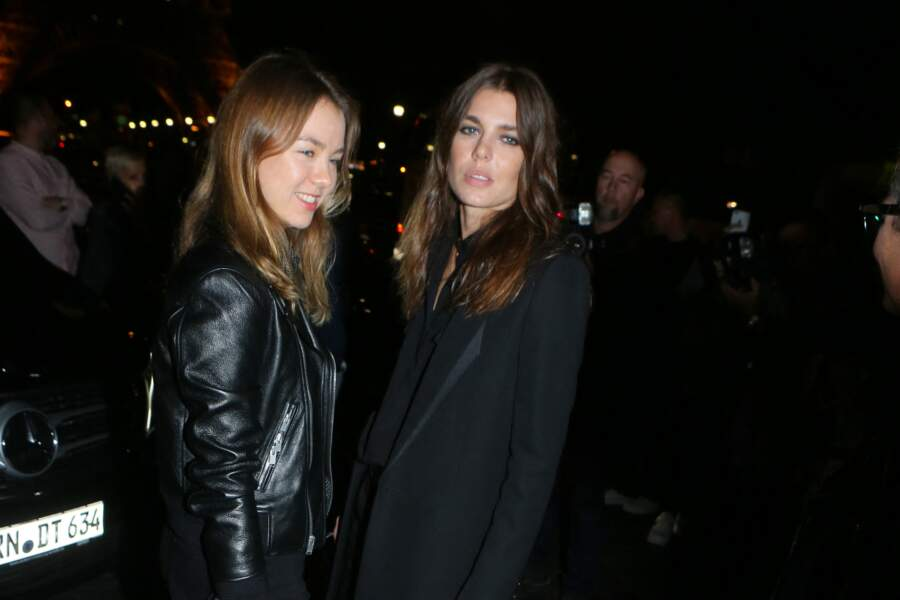 Charlotte Casiraghi  et Alexandra de Hanovre à Paris