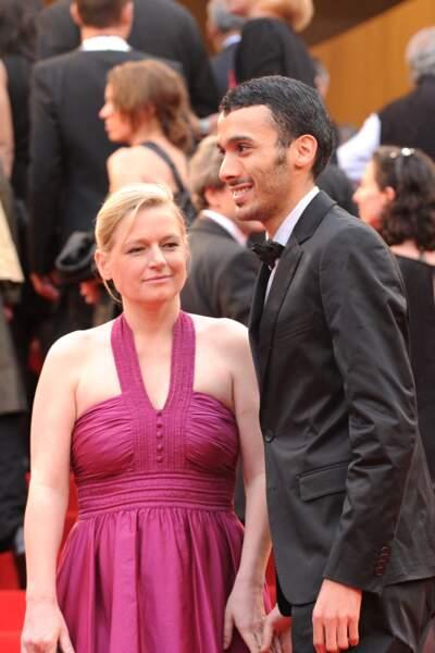 Anne-Elisabeth Lemoine et Mustapha El Atrassi, en mai 2010 à Cannes