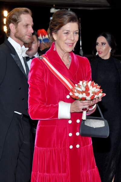 Caroline de Monaco, à l'occasion de la fête nationale monégasque au Grimaldi Forum à Monaco le 19 novembre 2019.