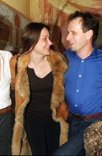 Carla Bruni et Charles Berling, en février 2001
